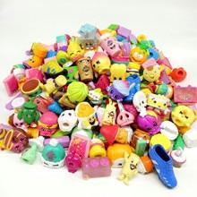 Economic 2to5cm Famous cartoon shopkin hot gift toy size kids play soft rubber Random