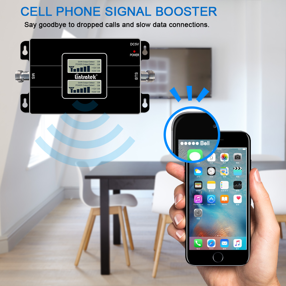 Image 5 - Lintratek CDMA 850 1800 dcs 2g 3g GSM WCDMA 2100 EGSM dual band repeater cellphone signal gsm umts booster 4g amplifier LCD dd-in Signal Boosters from Cellphones & Telecommunications
