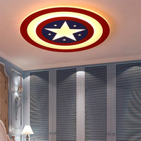 LED Kids ceiling lights for Bedroom Baby room light Captain America christmas decorations for home nursery ceiling light