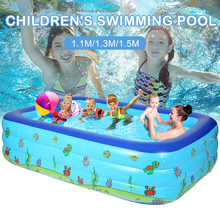 1M-2.6M Inflatable Pool Kids Adult Pool Baby Tub Baby Home Use Paddling Pool PVC Inflatable Square Swimming Kids Pool For Family