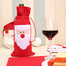 Christmas Red Wine Bottle Cover Bags home decoration storage bags New Years decor christmas gift bag Santa Claus
