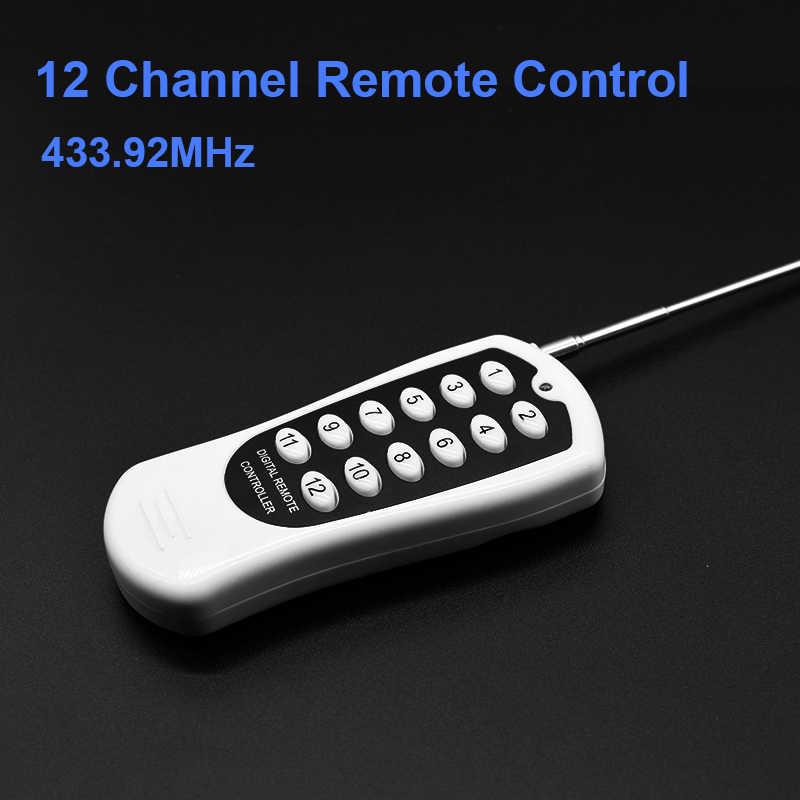 Nadajnik zdalny garaż/LED/światło/wentylator/przełącznik sterowania urządzeniem domowym 433MHz uniwersalny bezprzewodowy zdalny przekaźnik DC 12or24V 12CH rf