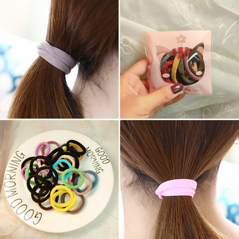 10PC Sweet Candy Color Circle Female Ponytail Elastic Hair Bands Fashion Girls High Womens Accessories HeadWear