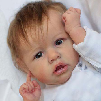 22 Full Silicone Body Reborn Baby Doll Toy LifeLike Real 55CM Crooked Mouth Reborn Doll Newborn Gift Toys For Kids Gift 22inch 55cm silicone full body reborn dolls lifelike baby boys newborn fashion doll christmas gift new year gift