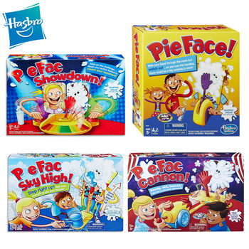 Hasbro Pie Face Showdown Pie Face Sky High Pie  Cannon Game Toys Cake Cream Pie in the face Family party Fun Game Prank Gadgets