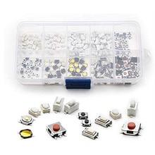 Botão interruptor tático, botão interruptor de controle remoto de carro, 10 tipos, 250 peças