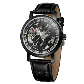 TurnFinger Personality Men's Mechanical Watch Business Fashion High-end Luxury Quality Top Craft Hollowed Out Beautiful Casual