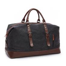 2020 Men Canvas Travel Shoulder Luggage Bags Large Capacity Handbag Business Casual Vintage Leather Simple Tote Bag 54cm vintage retro military canvas leather men travel bags luggage bags men bags leather canvas bag tote sacoche homme marque