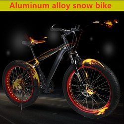 Bicycle Mountain bike 26 inches Fat Road Snow Bike 26*4.0 Bike 24/27/30 speed shift bicicleta Front and Rear Mechanical Disc