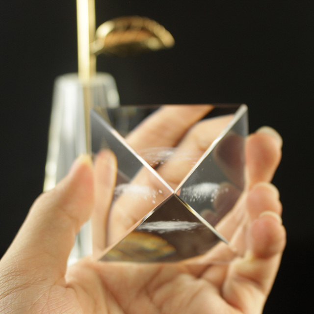 Crystal Pyramid 3D Laser Engraved Galaxy Glass Pyramid Fengshui Figurine Home Decoration Accessories for living room 5