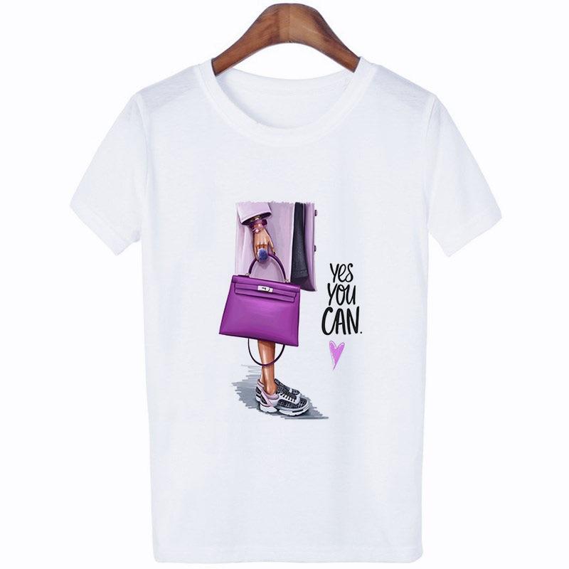 2019 NEW Harajuku Woman Clothes Trend Letter Printed Aesthetic Short Sleeve T Shirt Leisure Cartoon Girl Kawaii Tshirt Women