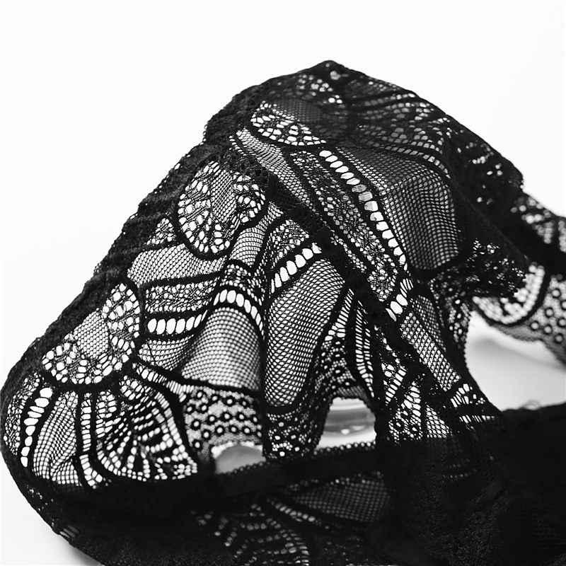 Bragas de algodón Tanga Sexy Tanga bragas de encaje tangas ropa interior de mujer Bragas para mujeres chicas señoras Floral Pantys calzoncillos