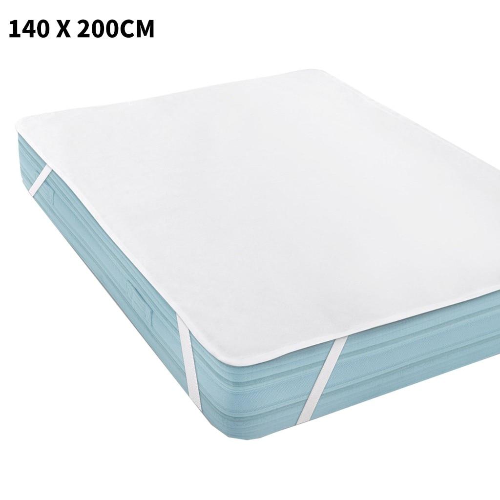 140 X 200 Cm Polyester Terry Waterproof Mattress Pad Cover Anti-mites Bed Sheet Waterproof Mattress Protector For Bed Mattress