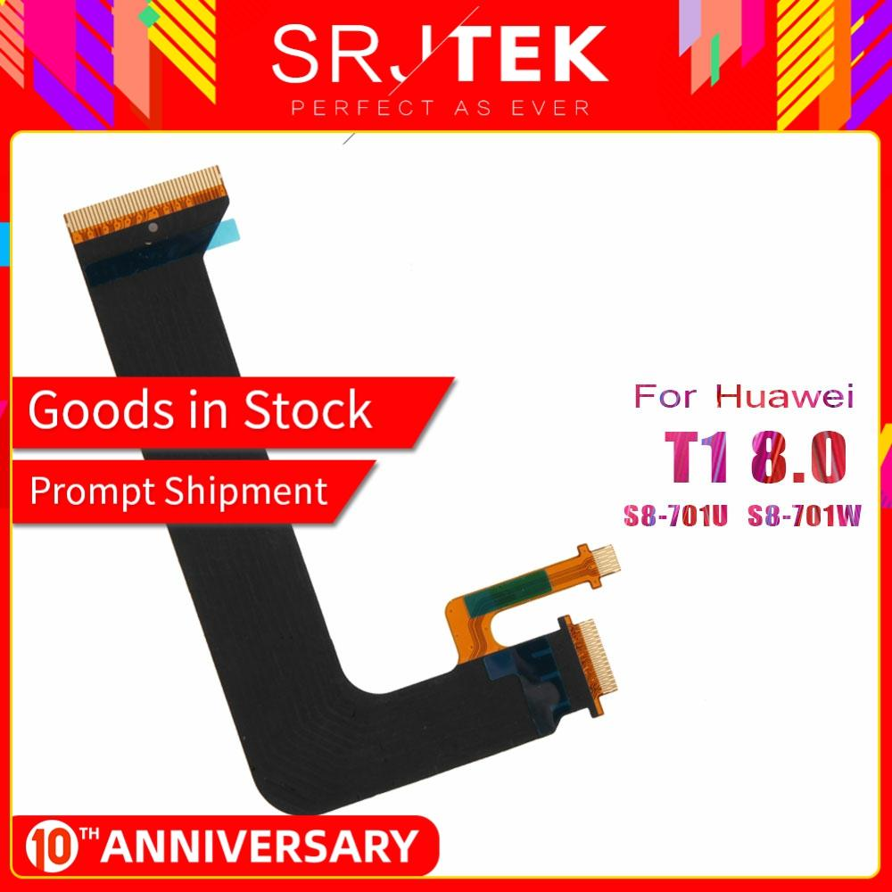 SRJTEK S8-701U LCD Flex Cable For Huawei MediaPad T1 8.0 T1-821W T1-823L LCD Display Main Motherboard Connect FPC Replacement