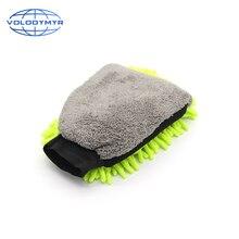 Şönil yıkama eldiveni yüksek kaliteli çift taraflı mikrofiber eldiven araba sünger otomatik temizleme için motosiklet yıkama Carclean