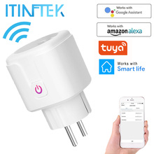 Timer-Socket Outlet Uk Adaptor Smartlife Energy-Monitor Voice-Control-Power Tuya Alexa