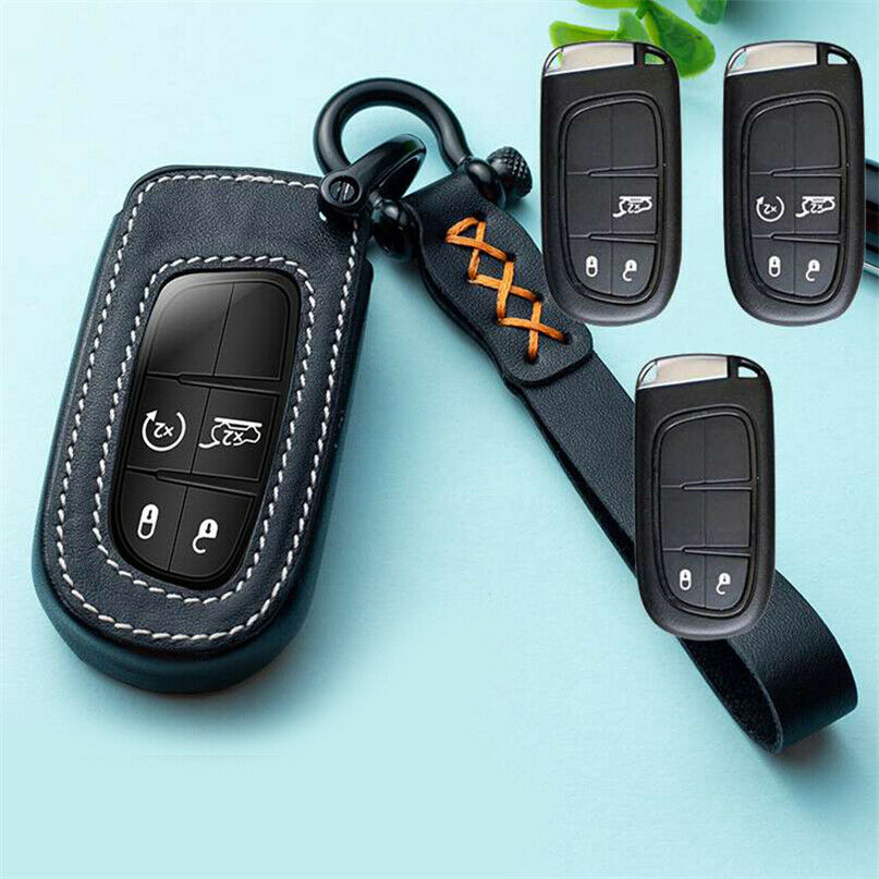 Chrysler Hey Charger Leather Keyring Key Chain Fob