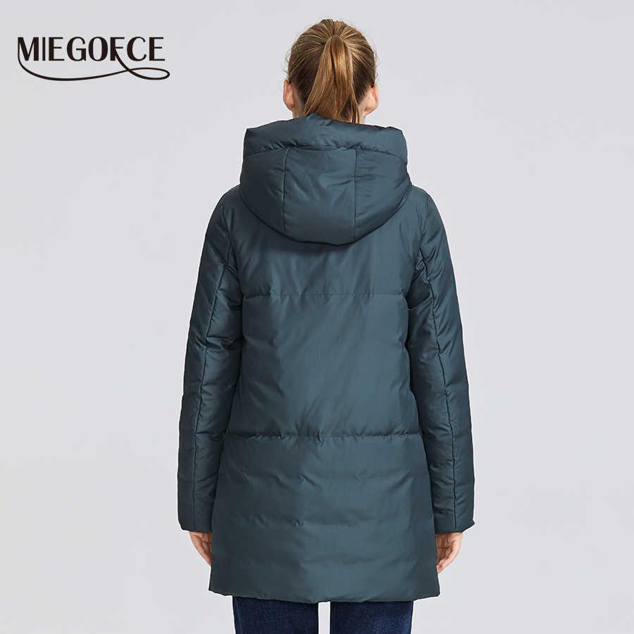 Miegofce 2019 Musim Dingin Wanita Koleksi Wanita Jaket Hangat dan Memberikan Tahan Angin Kerah Hooded Sport Klasik mantel