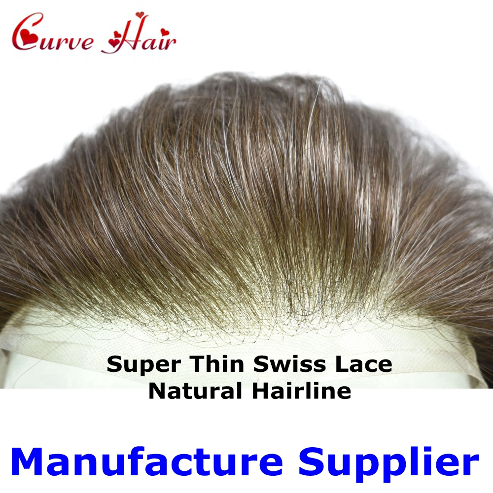 Full Swiss Lace Hairpiece All Lace Mens Toupee Human Hair Replacement Light Density Hair Systems Transparent Lace Wig For Men