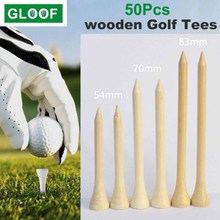 50Pcs/Set Wooden Golf Tee Tees Replacement Driving Range Hitting Trainer Club Accessories Golf Tees Ball Holder