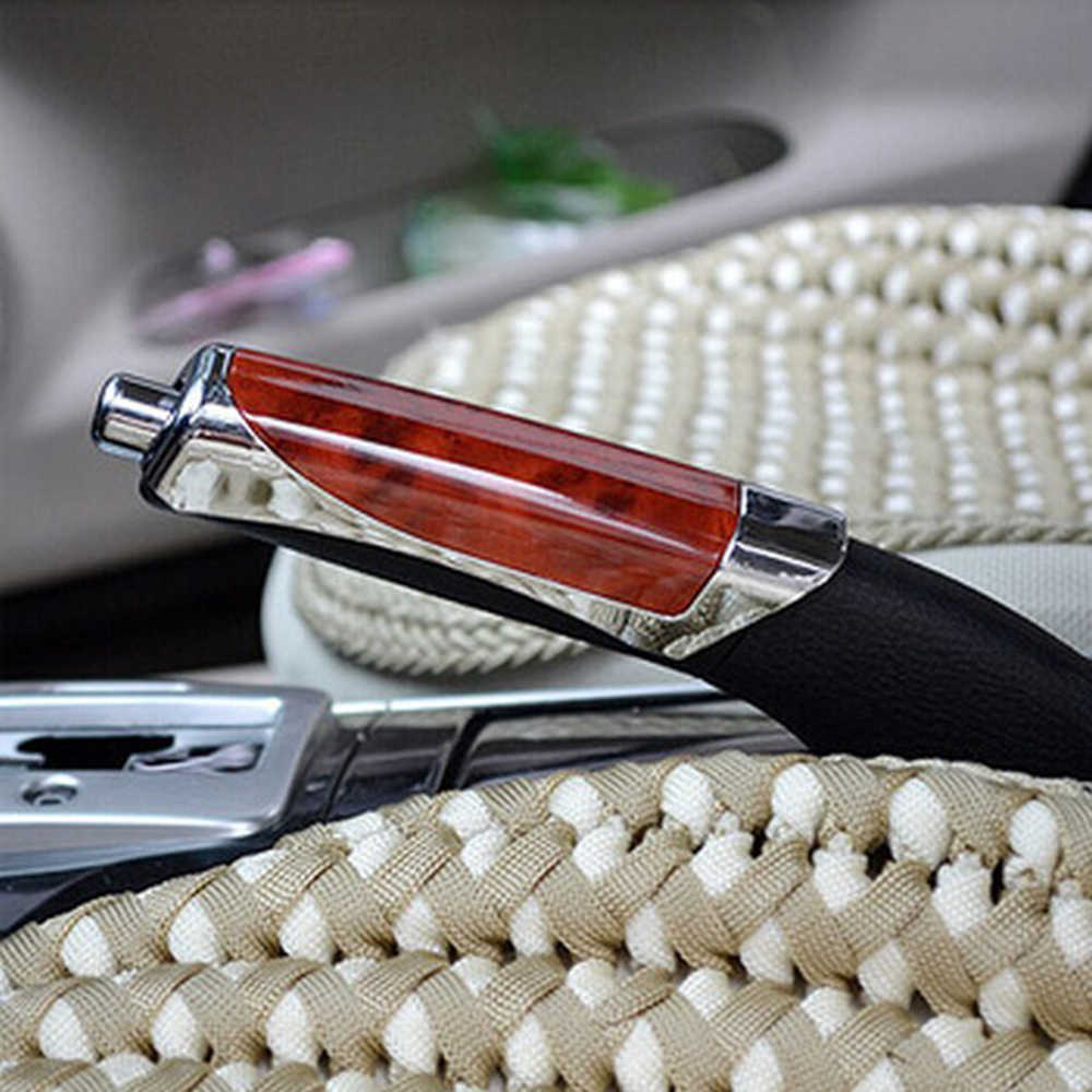 Universal Fashion Mobil Dekorasi Kayu Anti-Slip Handbrake Covers Auto Gear Shift Kerah untuk Honda Toyota VW Hyundai (1 Pc)