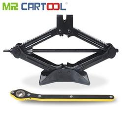 Mr cartool 2 ton jack carro para carro rolamento jack scissor elevador ferramenta de reparo do pneu 40cm altura 2 t