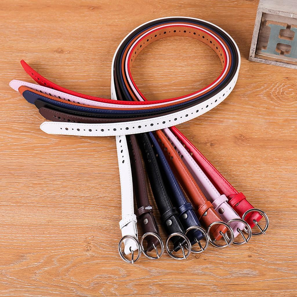 7 Colors Female Thin Belt Women 2019 High Quality Strap Women Leather Trouser Children's Adjustable Belt Cinturon Mujer 907
