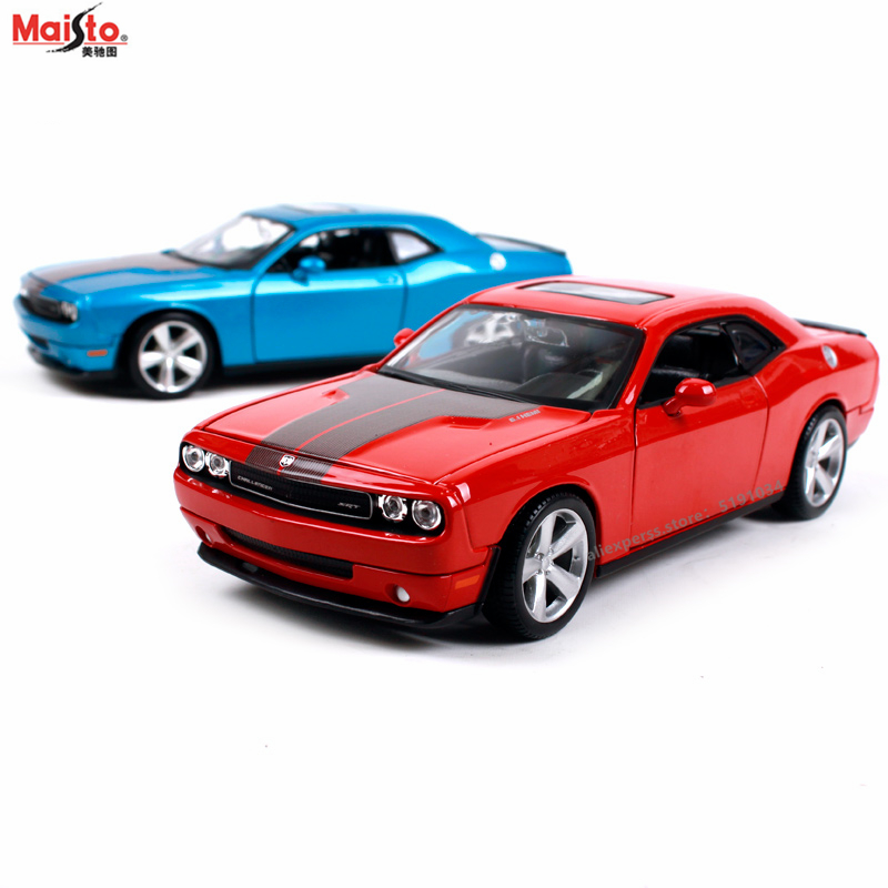 Maisto 1:24 Dodge Challenger Racing Convertible Alloy Car Model Simulation Car Decoration Collection Gift Toy