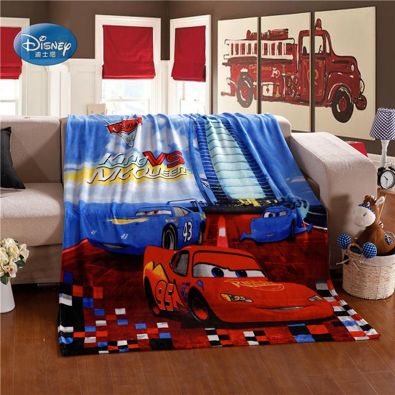 Disney Lightning Mc Queen Cars Blanket 150x200cm Kids Boys Children's Favorite Cartoon Bedroom Decor Flannel Bed Throws Blankets