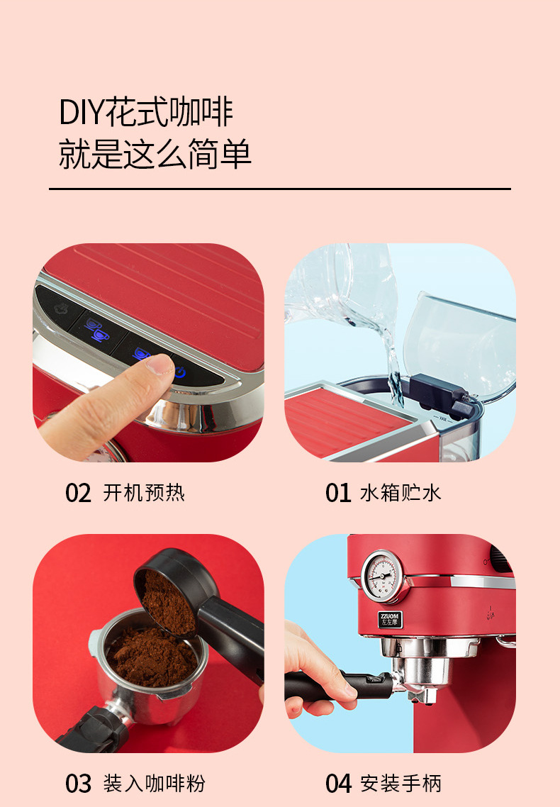 Haaee0f268a5f44cab31398fcd0c19251m - 2020 Neue 15Bar Espresso Machine Stainless Steel Body Memory Function Home Use Fully Automatic Milk Frother Kitchen Appliances