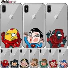 Marvel Avengers Case For iPhone XS Max XR X 7 6s 8 Plus 5S SE Super Iron Man Spiderman Deadpool phone Cases Cover Etui Coque marvel avengers case for iphone 11 pro max xs max xr x 7 6s 8 plus 5s se super iron man spiderman deadpool phone cases cover