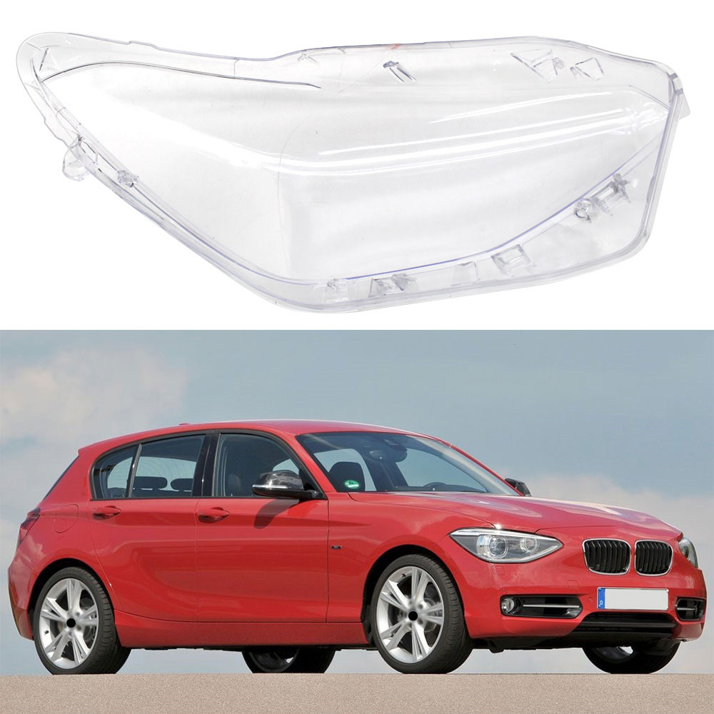 Left Right Front Headlamps Transparent Lampshades Lamp Shell Masks Front Headlights Lens Cover For BMW F20 2012-2014 image