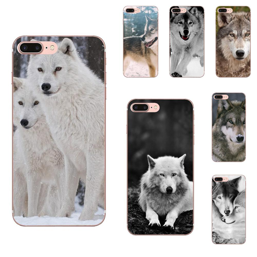 Wolf On Snow Perfect TPU Cover Cell Phone <font><b>Cases</b></font> For Apple <font><b>iPhone</b></font> 4 4S 5 5C <font><b>5S</b></font> SE 6 6S 7 8 Plus X XS Max XR image
