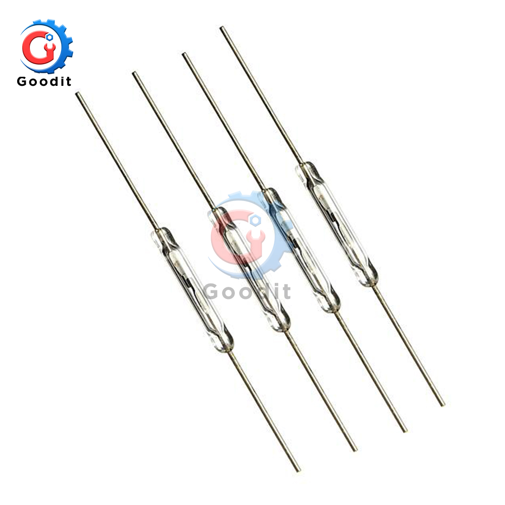 10pcs N/O Reed switch Magnetic Switch 2 * 14mm Normally Open Magnetic Induction switch