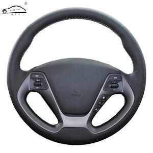Image 1 - Genuino volante In Pelle auto Copertura Della ruota di Copertura per Kia K3 2013 K2 Rio 2015 Ceed 2016 Cee 2012 2017 cerato 2013 2017