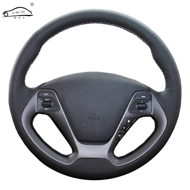 Genuino volante In Pelle auto Copertura Della ruota di Copertura per Kia K3 2013 K2 Rio 2015 Ceed 2016 Cee 2012 2017 cerato 2013 2017