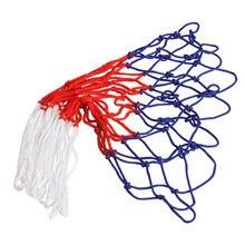 Linha de náilon basquete aro malha net padrão esportes basquete net 12 loops esportes ao ar livre basquete net suprimentos de basquete