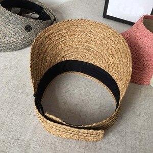 Image 5 - Keine hut M die verhindern aalen sich in sommer reise lafite gras kappe weiblichen han ausgabe flut strand hut leer hut stroh Visiere