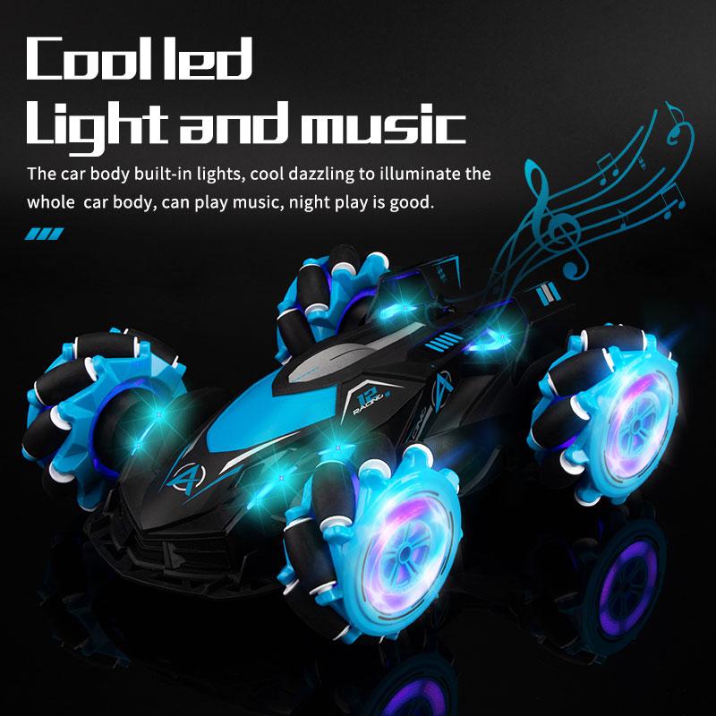 LBLA B2 1:14 2,4G 4WD дистанционного Управление RC Stunt автомобилей крест спрей деформации твист жест радио зондирования дрейф автомобиль музыка свет...