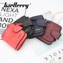 цена Baellerry Wallet Solid Short Women Wallet PU Leather Hasp Clip Porta Handbag Note Compartment Card Holder Zipper Pocket Wallet в интернет-магазинах