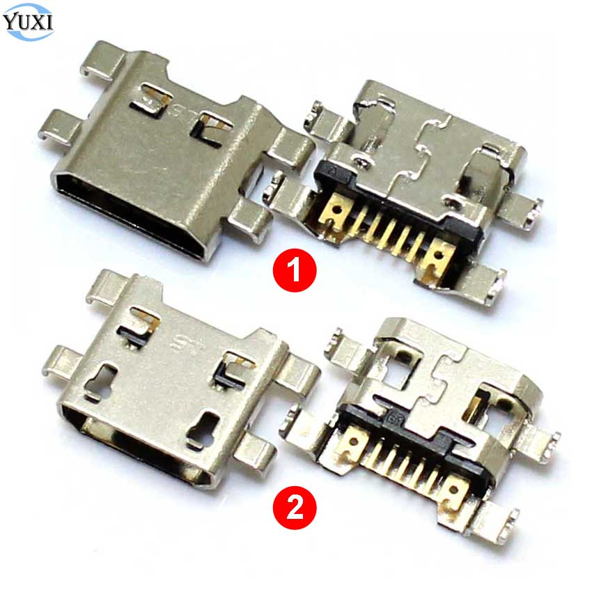 YuXi 10pcs Micro USB Charging Port Connector Socket Jack Charge Dock For LG K10 K420 K428 2017 X400 K121 M250  For G4 F500 H815