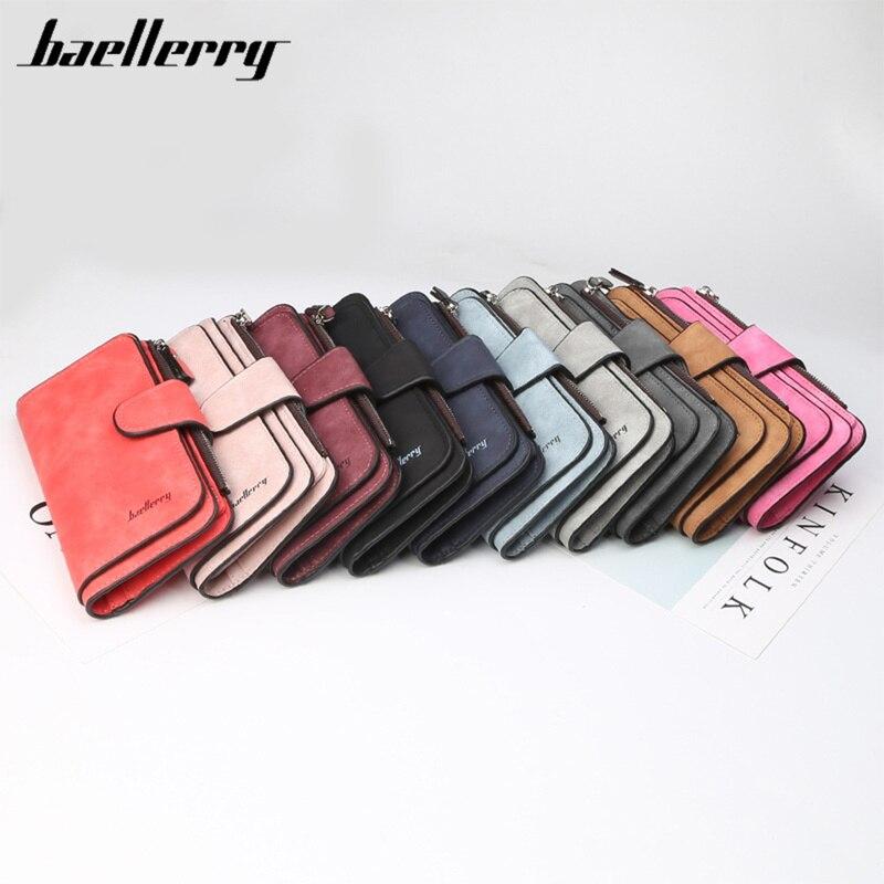 Baellerry Wallet Women Leather Casual Women Wallets Luxury Card Holder Clutch Bag Zipper Pocket Hasp Female Purse Ladies Wallet
