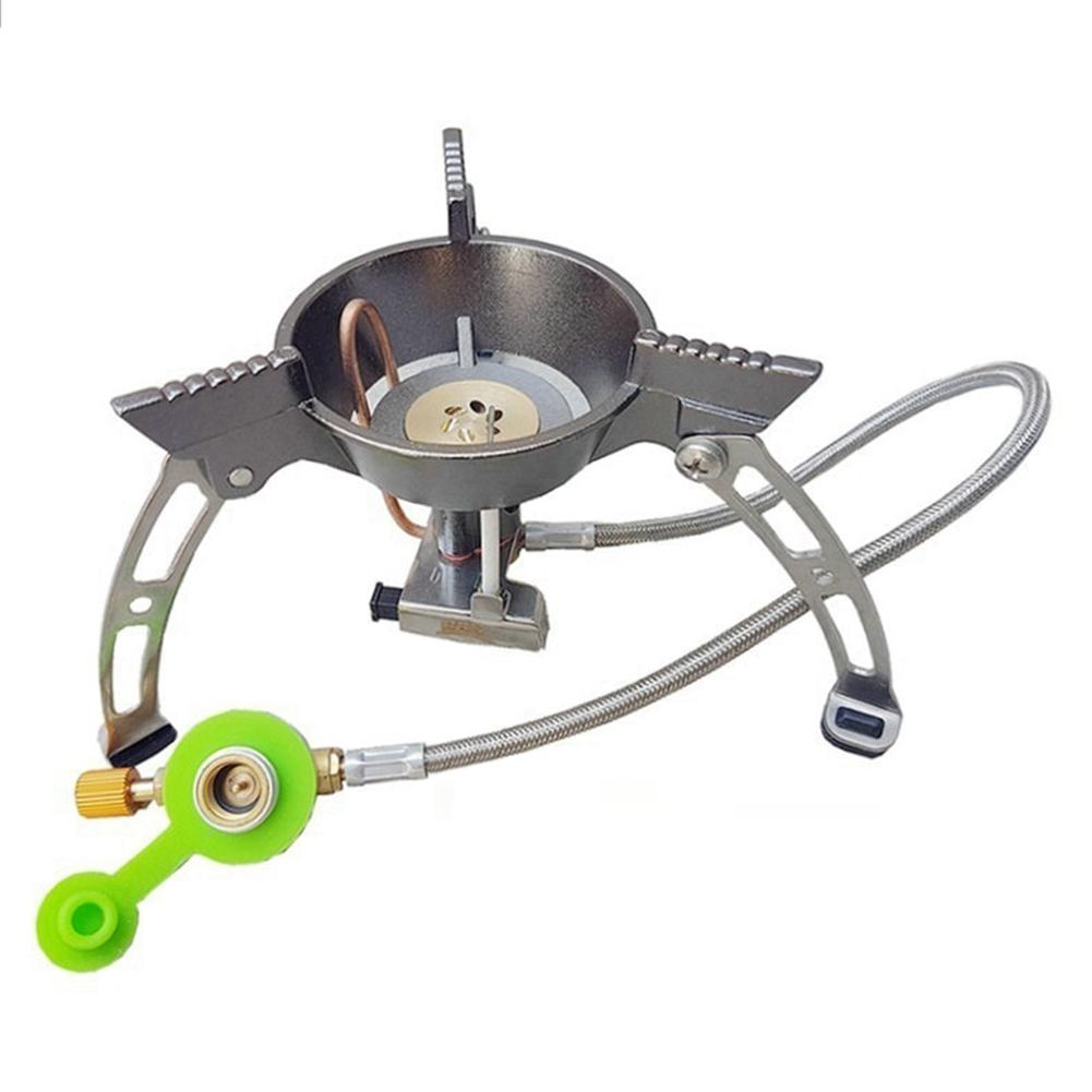 Windproof Gas Stove Outdoor Camping Picnic Portable Outdoor Mini Backpack Survival Furnace Cooking BBQ Stove Tool