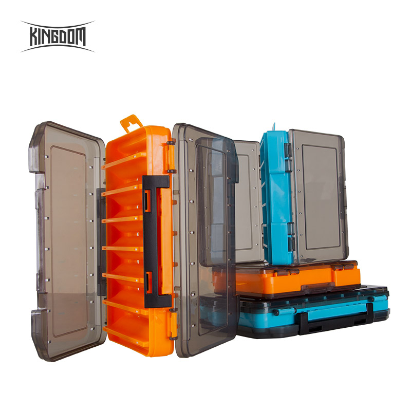 Kingdom Fishing Tackle Lure Box 12/14 Compartments New PP Material Double Sided Durable For Winter Fishing Accessories Strong