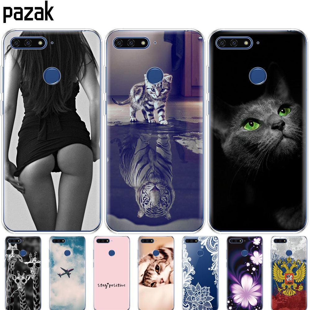 Silicone Case For Huawei Y6 2018 Case Cover For Huawei Y6 Prime 2018 Case Back Cover Full 360 Protective Soft Tpu Pop New