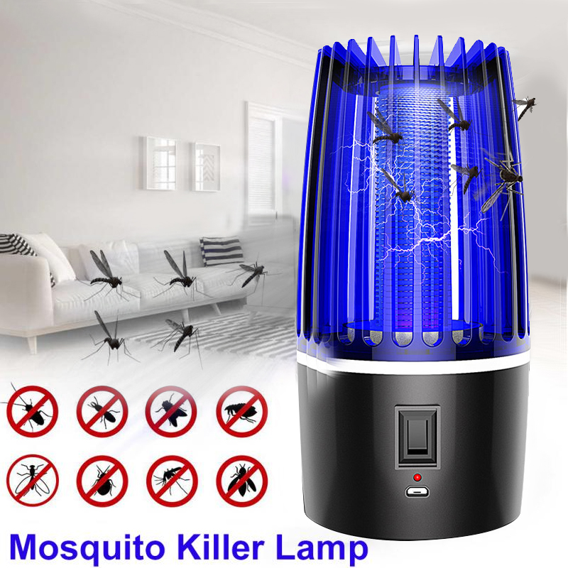 Ловушка для комаров со светодиодной подсветкой, ловушка для насекомых, электрическая ловушка для комаров, фотокатализатор, бесшумная домаш...
