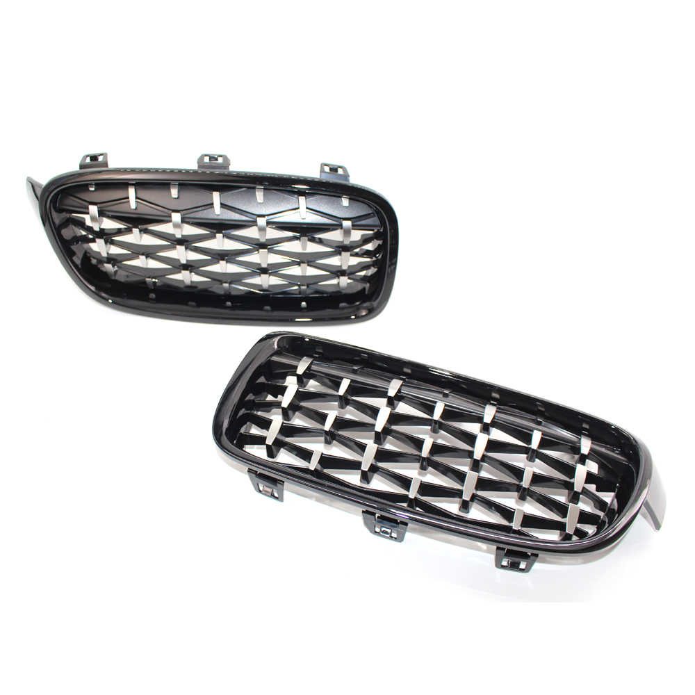 Glossy Black Front Grill Kidney Grilles for 3 Series F30 F31 F35 2011-2016 1set