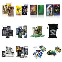 2020 tarot cards oracles deck mysterious divination tarot deck for women girls cards game, board game