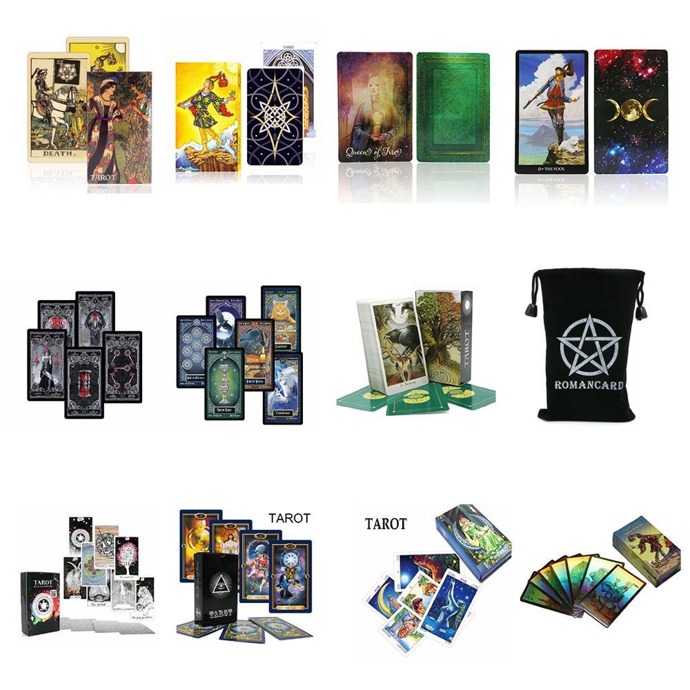 2020 tarot cartes oracle deck mystérieux divination tarot deck pour femmes filles cartes jeu, jeu de société