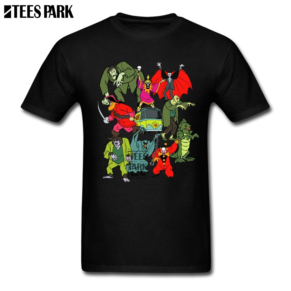 Scooby Doo Mystery Machine Kids Tv Show Cartoons Cool Cool T Shirts Man Round Collar Short Sleeve T Shirt Plus Size Men's Luxury image